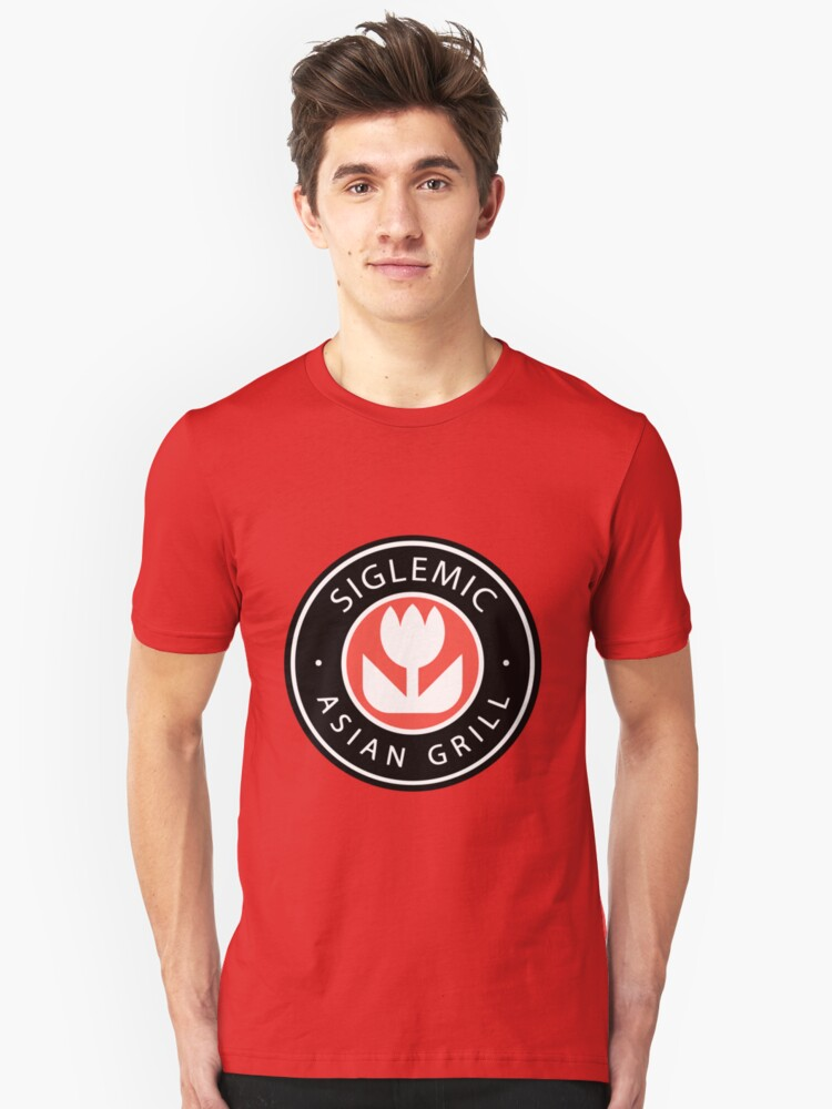 Siglemic's Hot Asian Grill (Larger Insignia) Unisex T-Shirt Front