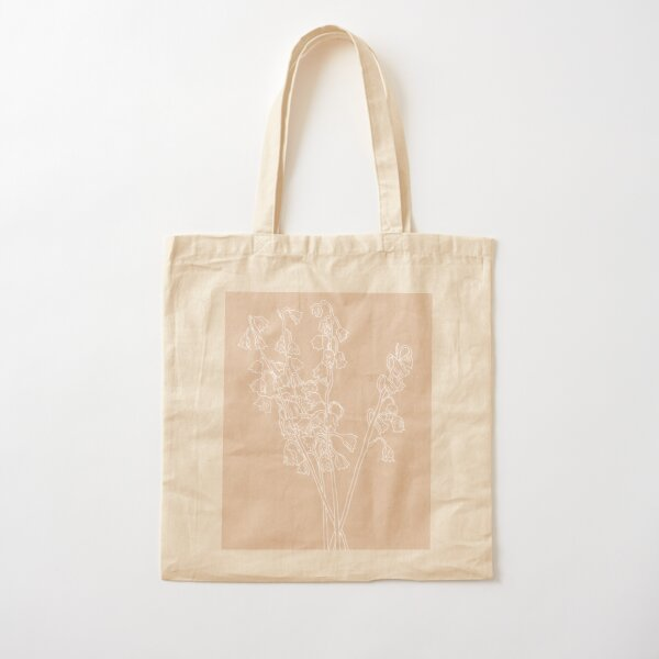 Lily of the Valley May Birth Flower in Pink Cotton Tote Bag