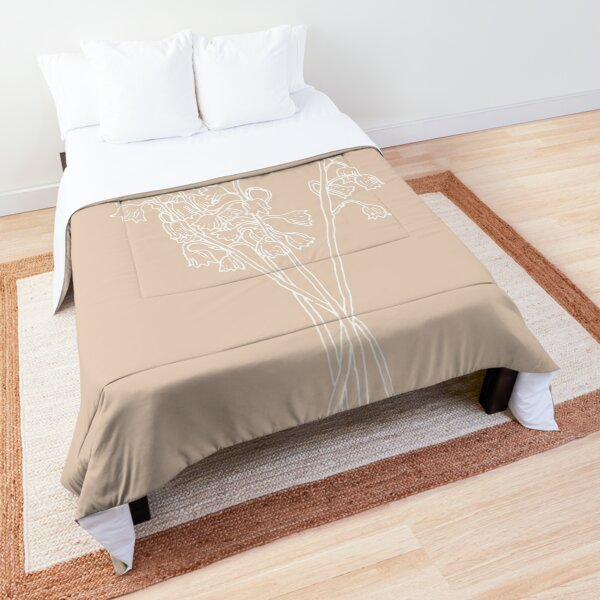 Lily of the Valley May Birth Flower in Pink Comforter