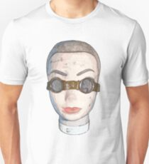 head with goggles  T-Shirt