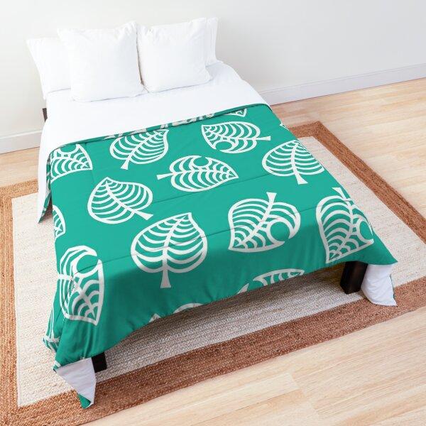 Animal Crossing New Horizons Leaf Pattern Comforter