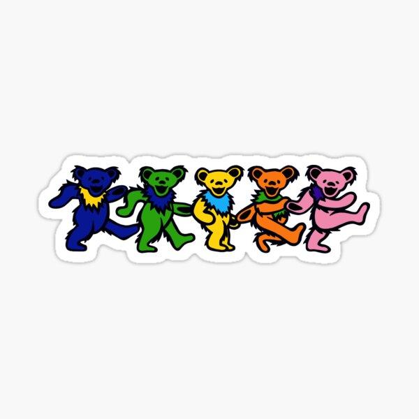Rainbow Dancing Bears Sticker