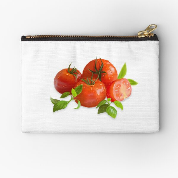 Jersey Tomatoes and Basil Zipper Pouch