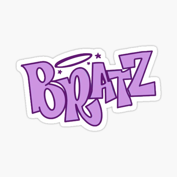logo violet bratz Sticker