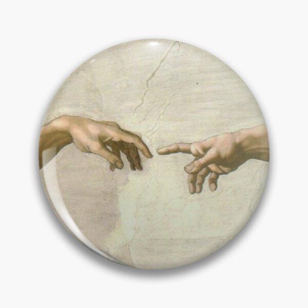 the creation of adam fingers mask Pin