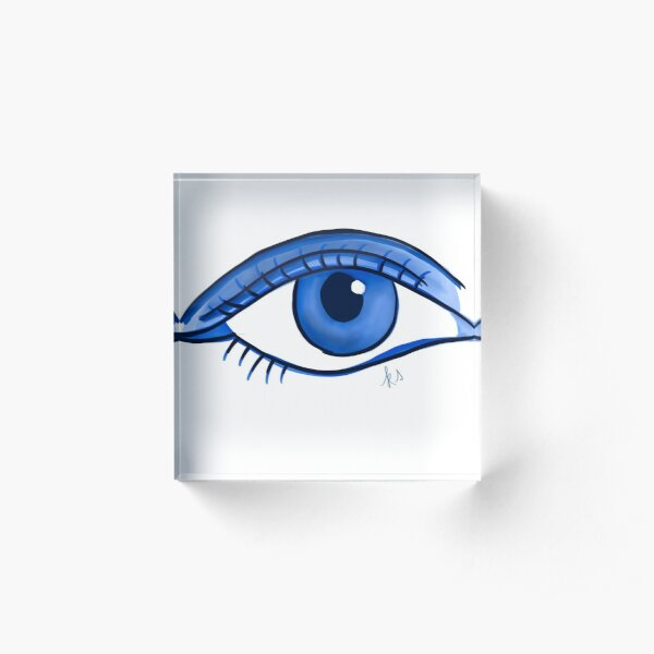 Blue eye Acrylic Block