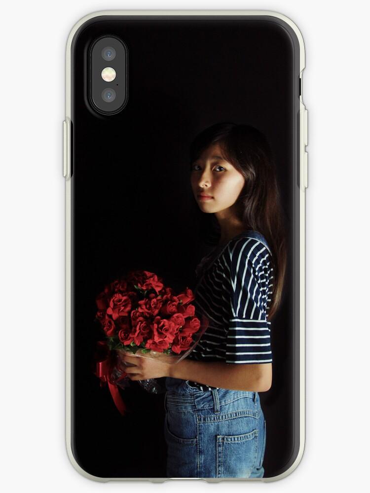 a girl with flowers by yukaglenn