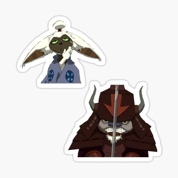 samurai momo and appa Sticker