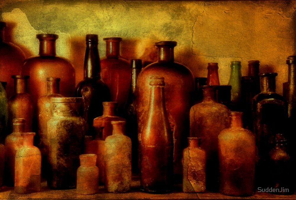 Bottles On Shelf by SuddenJim