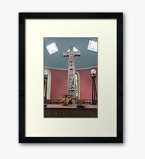 Religious, monument, Ruthwell Runic Cross Framed Print