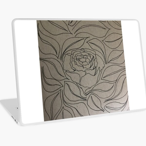 Petals and Leaves Laptop Skin