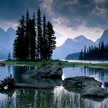 Maligne Lake after a Storm by Irrelephante