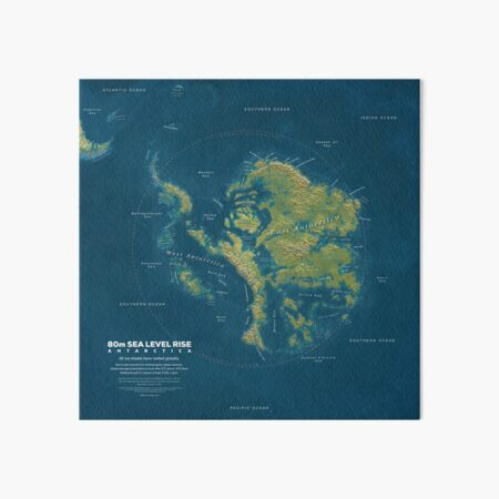 Antarctica Sea Level Rise Art Board Print