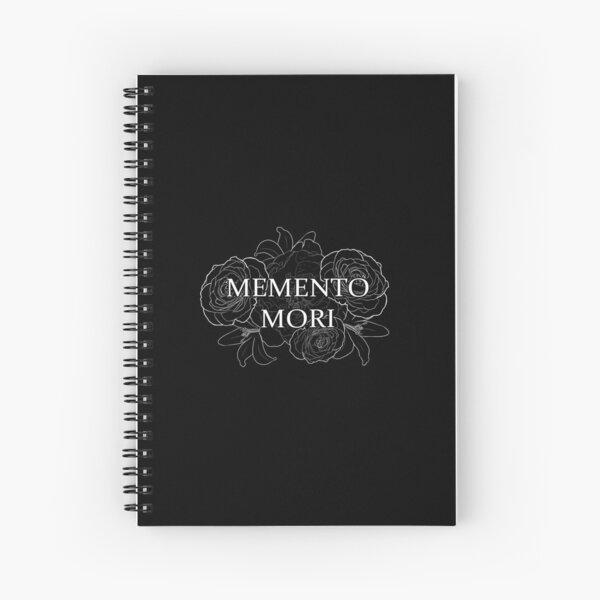 Memento Mori - White on Black Spiral Notebook