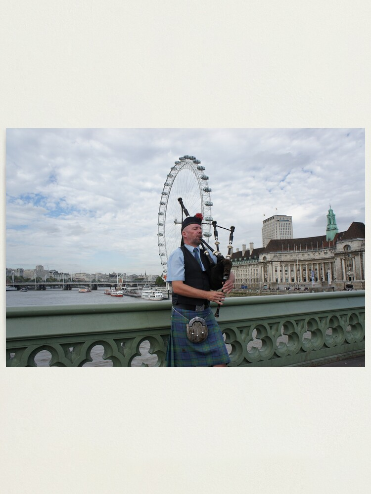 Alternate view of Bagpiper at London Eye Photographic Print