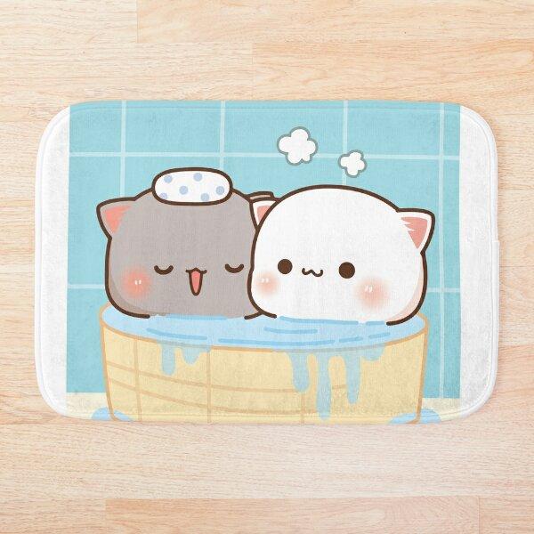 Peach and Goma Mochi Bathing Bath Mat