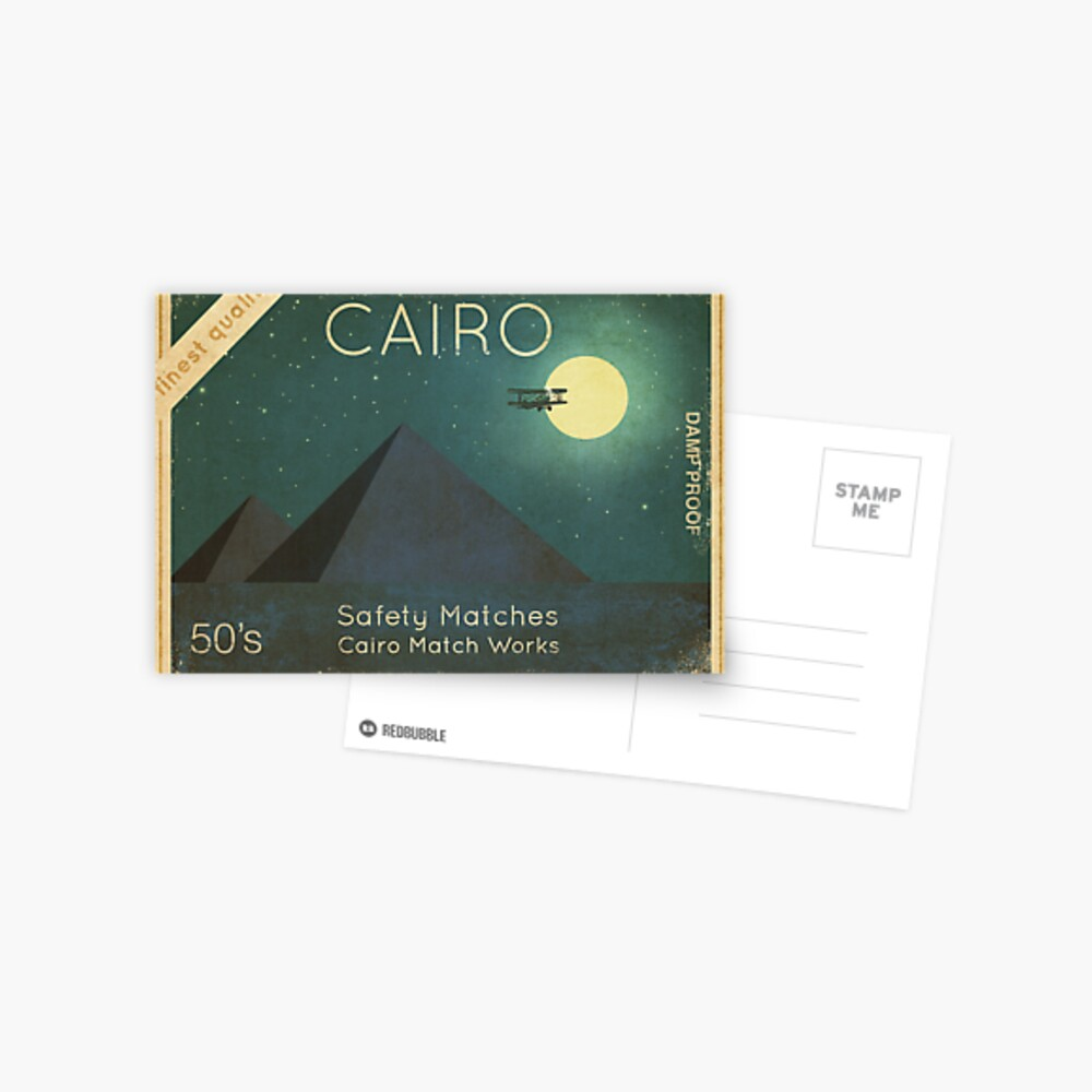 Cairo Safety Matches Greeting Card By Terryfan Redbubble