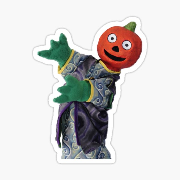 Wump Mucket Puppets Gourdon the Pumpkinman merchandise Sticker