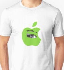 Isee green apple with an eye vector Unisex T-Shirt