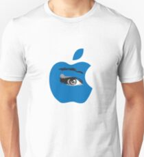 Isee blue apple with an eye vector Unisex T-Shirt