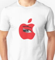 Isee red apple with an eye vector Unisex T-Shirt