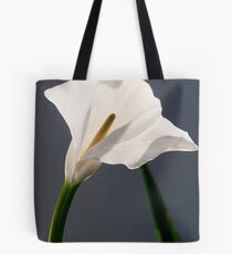 white flowers (Zantedeschia aethiopica) Tote Bag