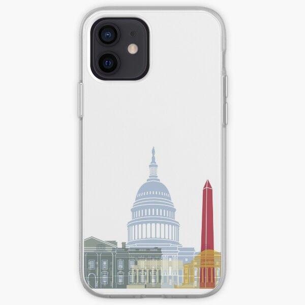 Washington DC skyline poster iPhone Soft Case