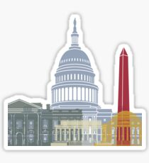 Washington DC skyline poster Sticker