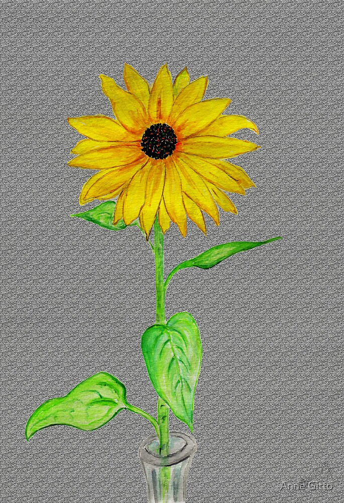 My Last Sunflower of 2012 by Anne Gitto