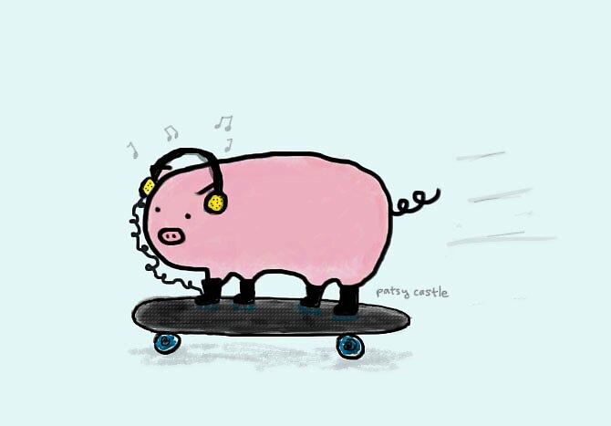 Skate Pigg by Patsy Castle