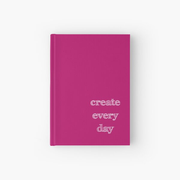 Create Every Day Sketch Letters Hardcover Journal