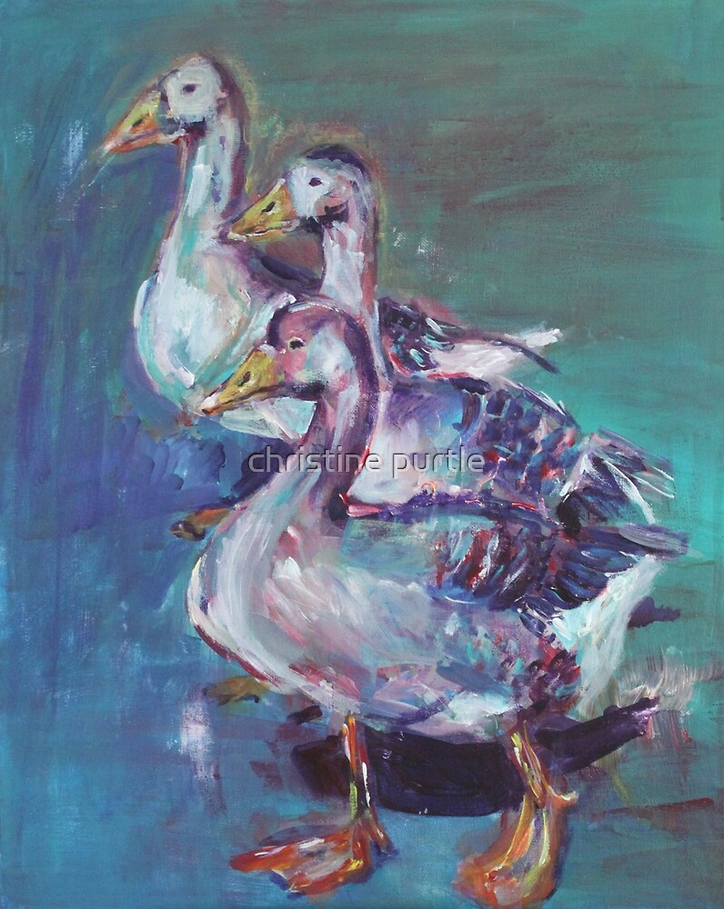 A giggle of geese by christine purtle