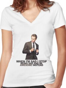 The Awesomeness that is Barney Stinson Women's Fitted V-Neck T-Shirt