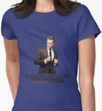 The Awesomeness that is Barney Stinson Womens Fitted T-Shirt