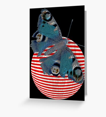 butterfly and ball  Greeting Card