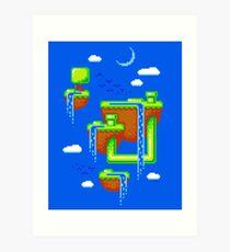 PIXEL ISLANDS Art Print