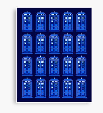 TARDIS PATTERN Canvas Print