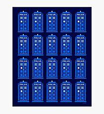 TARDIS PATTERN Photographic Print
