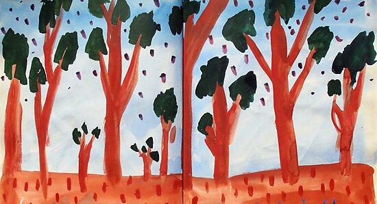 Orange Treed Forest by John Douglas