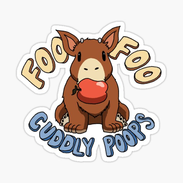 Foo Foo Cuddly Poops Sticker