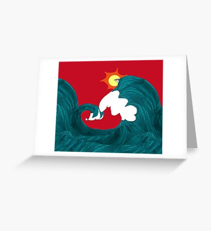 Shark Surfing Greeting Card
