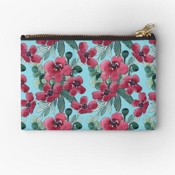 Watercolor Poppies  Zipper Pouch