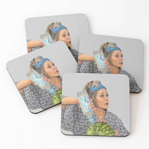 Grace Hanson Cooking Watermelon and Vodka Coasters (Set of 4)