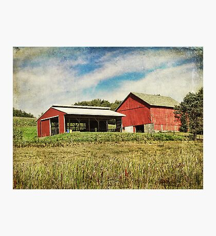 The barn on the hill Photographic Print