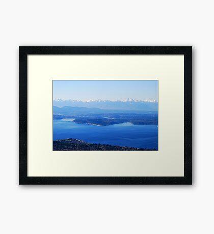Over Puget Sound Framed Print
