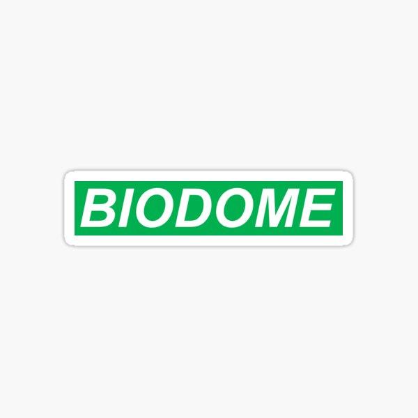 Biodome green bold logo Sticker