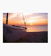 Blau Sunset Photographic Print