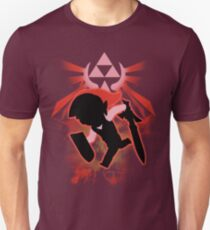 Super Smash Bros. Red Toon Link Silhouette T-Shirt