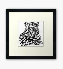 Amur leopard ink sketch Framed Print