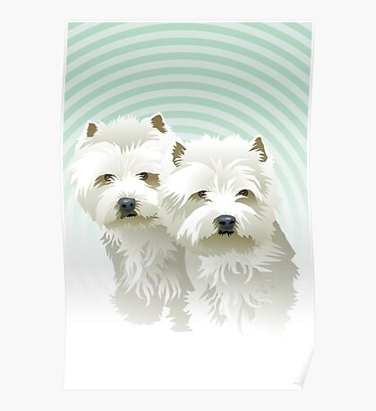 westies (mother and daughter) Poster